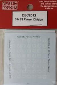 WW2 9TH SS PANZER DIVISION DEC1506 DECALS PLASTIC SOLDIER COMPANY