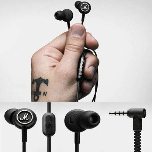 Brand new Marshall Mode Earphones In-Ear Earbuds Microphone Remote Stereo bass