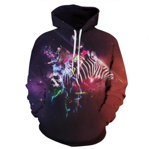 Unisex Animal Graphic 3D Print Hoodies Long Sleeve Sweatshirt Pullover Coat Tops