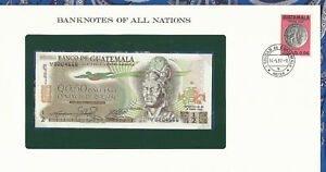 Image Is Loading Banknotes Of All Nations Guatemala 1 2 Quetzal