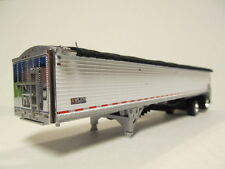 DCP 1/64 SCALE 50' WILSON BELT TRAILER  WHITE (CUSTOM MADE INTO SPREAD AXLE)