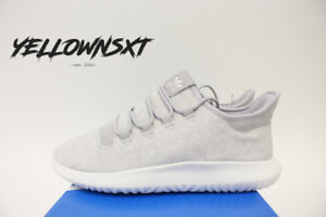 ADIDAS TUBULAR SHADOW SZ 9 ORIGINALS GREY CRYSTAL WHITE KNIT BY3570