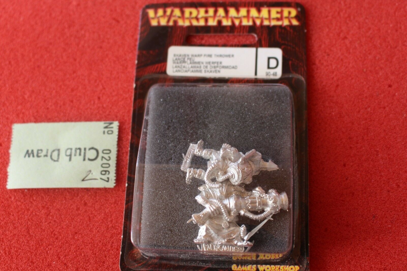 Games Workshop Warhammer Skaven Warp Fire Thrower Cannon Metal BNIB New GW OOP