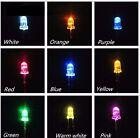 FLASHING BLINKING 3mm 5mm LED Bulb Bright Water Clear 3V Light Emitting Diode