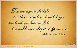 proverbs chld bible quote vinyl wall decal sticker