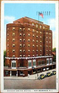 1938-Postcard-Roger-Smith-Hotel-New-Brunswick-New-Jersey-NJ