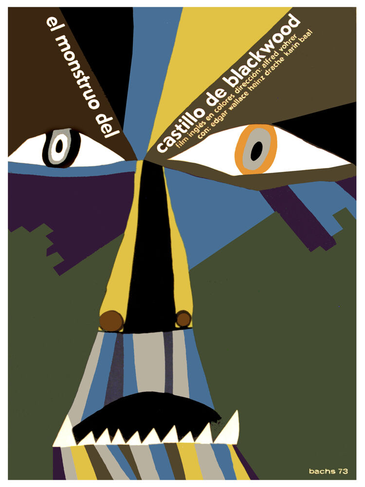 El monstruo del castillo vintage film POSTER.Graphic Design.Art Decoration.3060