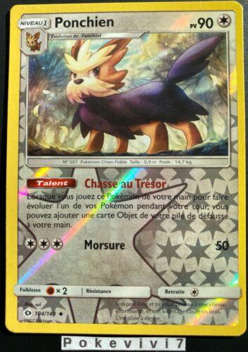 Carte Pokemon PONCHIEN 104//149 Reverse Soleil et Lune 1 SL1 FR NEUF