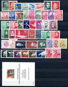 DDR-Jahrgang-1956-postfrisch-MNH-jede-MiNr-1x-mit-Block