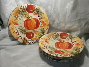 SET-OF-4-FALL-FESTIVITIES-SALAD-PASTA-PLATES-9-034-BY-222-FIFTH-FINE-CHINA