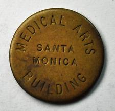 Santa Monica Medical Arts Building Parking Token 25mm Copper