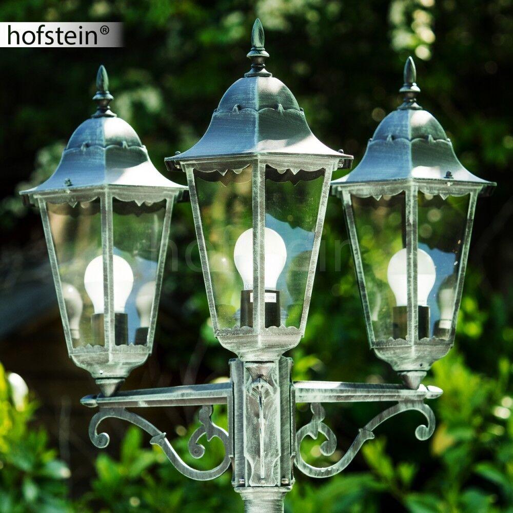 Lampione con 3 lanterne Stile casa di campagna Lampioncino Lampada giardino 3575