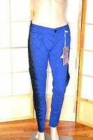 Electric Blue & Black Sequin Beads Bling Truce Low Rise Skinny Jeans 12 13