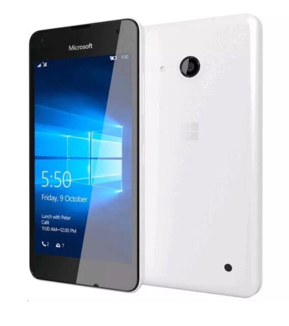 TOUT NOUVEAU Microsoft / Nokia Lumia 550 BLANC 4G SIM débloqué Windows téléphone