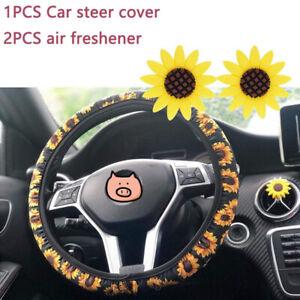 Surprising Details About Sunflower Steering Wheel Cover Non Slip Neoprene Fabric 2Pcs Car Air Freshener Andrewgaddart Wooden Chair Designs For Living Room Andrewgaddartcom