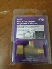 Plumb Pak 3//8in Dia x 1//4in Dia Threaded To Threaded Brass Add A Tee Adapter