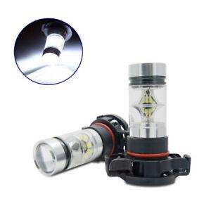 2x-5202-H16-6000K-LED-Luz-de-Niebla-Bombillas-Xenon-Blanco-16000LM-Alta-Potencia-Accesorios