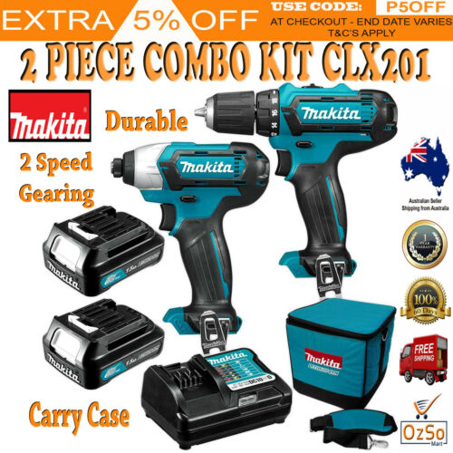 Makita 12V Lithium Ion Max Cordless 2 Piece Combo Kit Driver Drill Impact Driver