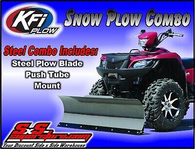 fits 1989-2001 Polaris 250 Xplorer // 4x4 // 4x6 ATV Mount Bracket KFI 54 Straight Steel Snowplow Combo Kit 54 Straight Plow Push Tube