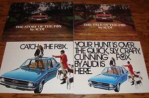 1976 Audi Fox Sales Brochure