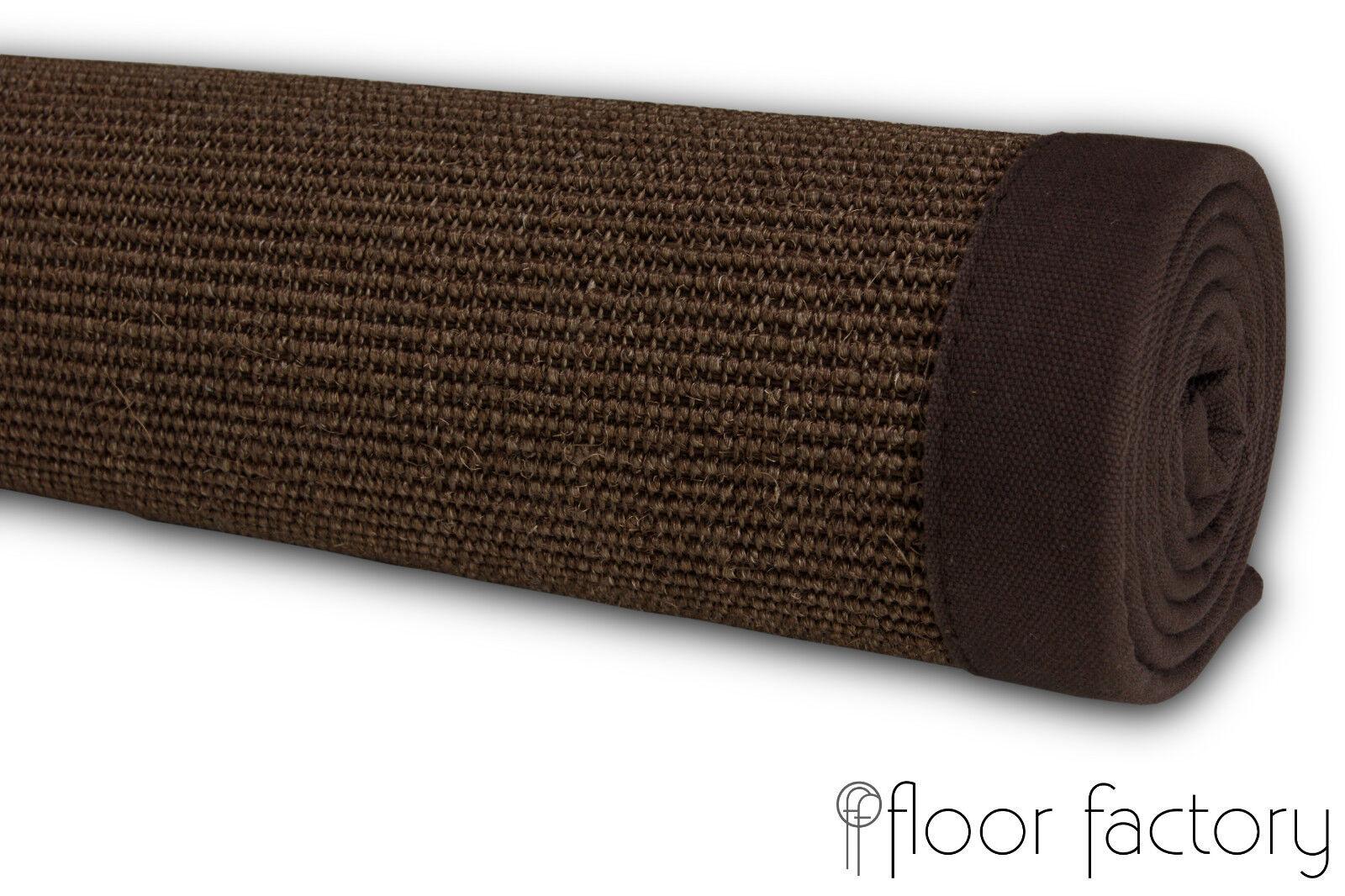 Alfombra Sisal natural de Sisal Alfombra borde de algodón 100% fibra natural 7d5ef7