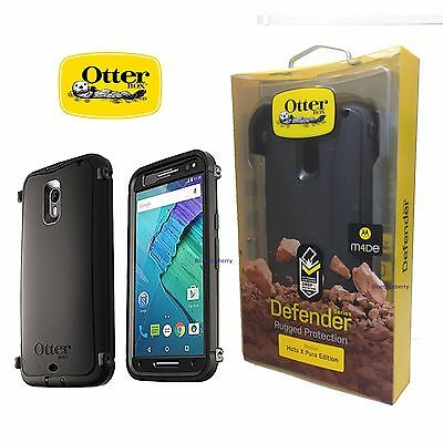 wholesale dealer 662fc 08a43 NEW OtterBox Defender Case Cover for Motorola Moto X Pure Edition Black 3rd  Gen 660543379836 | eBay