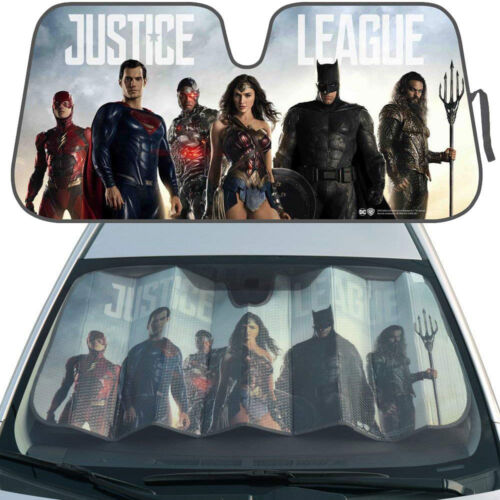 New DC Comics Justice League Car Truck Windshield Folding Sun Shade Large Size