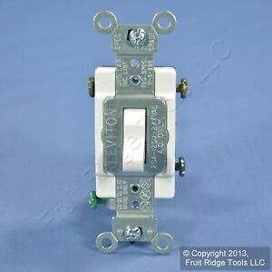 Pass /& Seymour Ivory COMMERCIAL Toggle Light Wall Switch 3-Way 20A Bulk CS320-I