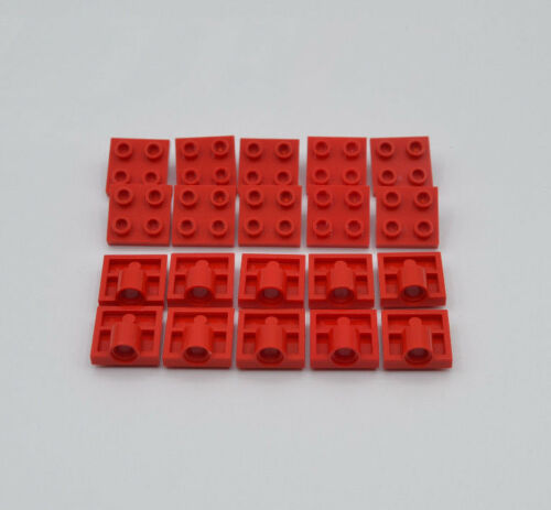 LEGO 20 x Technik Platte 2x2 mit 1 Loch Achse rot red axis 1 hole 2444 244421