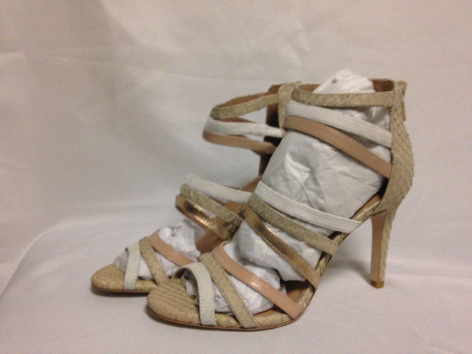 Joie Zee hög klack Strappy Sandal 37 7M Nude Multi läder Ny med ask