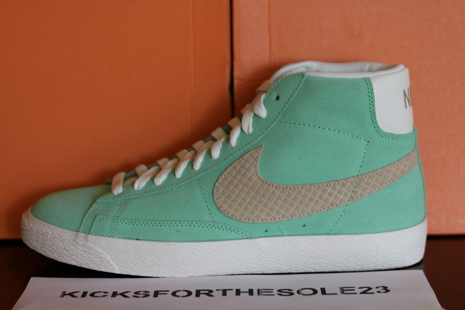 Nike Blazer High Top Mint Green 638322301 Skateboarding Casual Walking