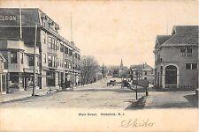 1905 Stores Main St. Wakefield RI post card