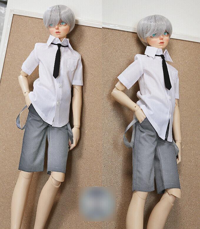 1 4 Bjd MSD Boy Puppe Grau Schuluniform Kleidung Kostüm Dollfie Luts