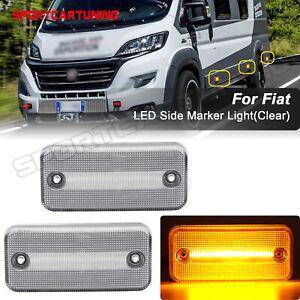2x-LED-Seitenmarkierung-Lichter-Fuer-Fiat-Ducato-2001-2019-Renault-Trucks-Iveco