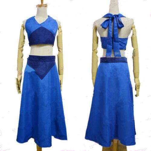 Details about  /Steven Universe Lapis Lazuli Cosplay Costume Blue Long Dress Custom Made