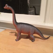 Retro Plastic Dinosaur Brachiosaurus Toy Figurine Purple and Orange