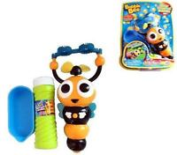 Bumble Bee Bubble Blower Machine 2 Wand Battery Operated Blowing Bubblles Fluid