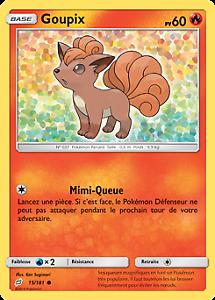 Reverse Goupix Pokemon 15//181 VF Français