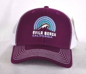 d4f02c949c1 AVILA BEACH CALIFORNIA  Surf Surfing Trucker Ball cap hat snapback ...