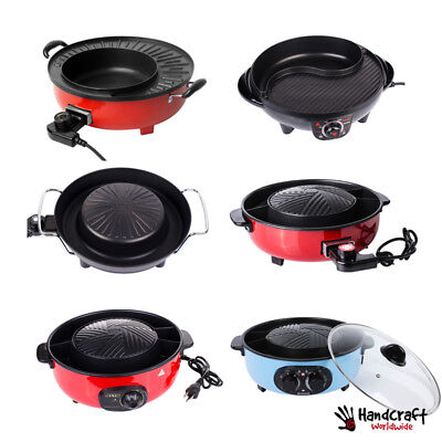 Bbq Grill Complete Set Electric Pan Camping Picnic Non