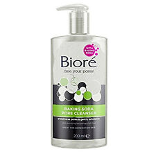 Biore Baking Soda Pore Cleanser 200 ml Remover Facial Acne Face Nose Cleaner UK