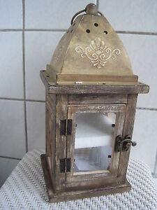 Windlicht-Teelichthalter-Laterne-im-antik-Finish-ca-30-cm-hoch-NEU