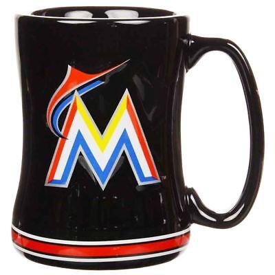 Miami Marlins Mug Sculpted Relief Coffee Mug 14oz