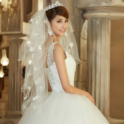 Ivory 4layer Charming Cathedral Wedding Bridal Dress Veil With comb