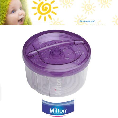 Milton Combi Esterilizador Microondas o Agua Fría Viaje Bebé 5 Botella Púrpura Nuevo