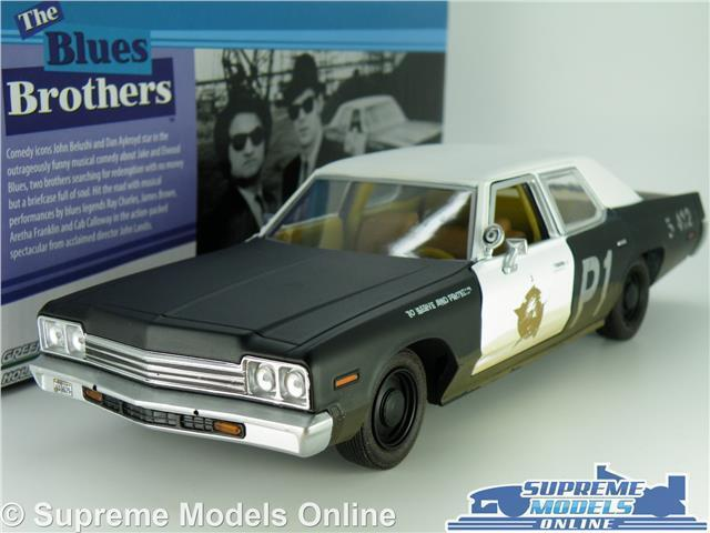 DODGE MONACO blueESMOBILE MODEL CAR 1 24 SCALE blueES BredHERS LARGE GREENLIGHT K8