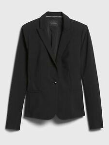 NWT Banana Republic Women's Black Classic Fit Washable Blazer size 14
