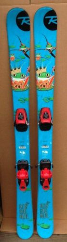 Rossignol junior twintip skis fit multiple boot sizes 125 or 135 cm lengths