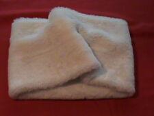 Talbots ladies faux fur lightweight muffler scarf collar polyester vanilla ivory