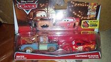 CARS - MATER with no tires e MACQUEEN with no tires - Disney Pixar Cricchetto